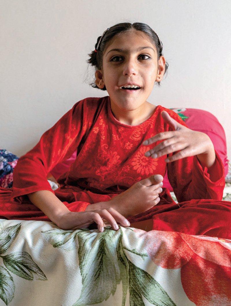 Opfer der Tradition: Viele Kinder, die wie Zainik Biki mit Einschränkungen geboren werden, haben Eltern, die eng miteinander verwandt sind.