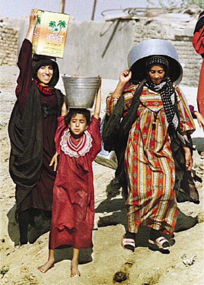 Flusswasser zum Trinken: Noch immer hat ein Drittel der Bevölkerung von Bagdad keinen Zugang zu sauberem Trinkwasser. Foto: ap