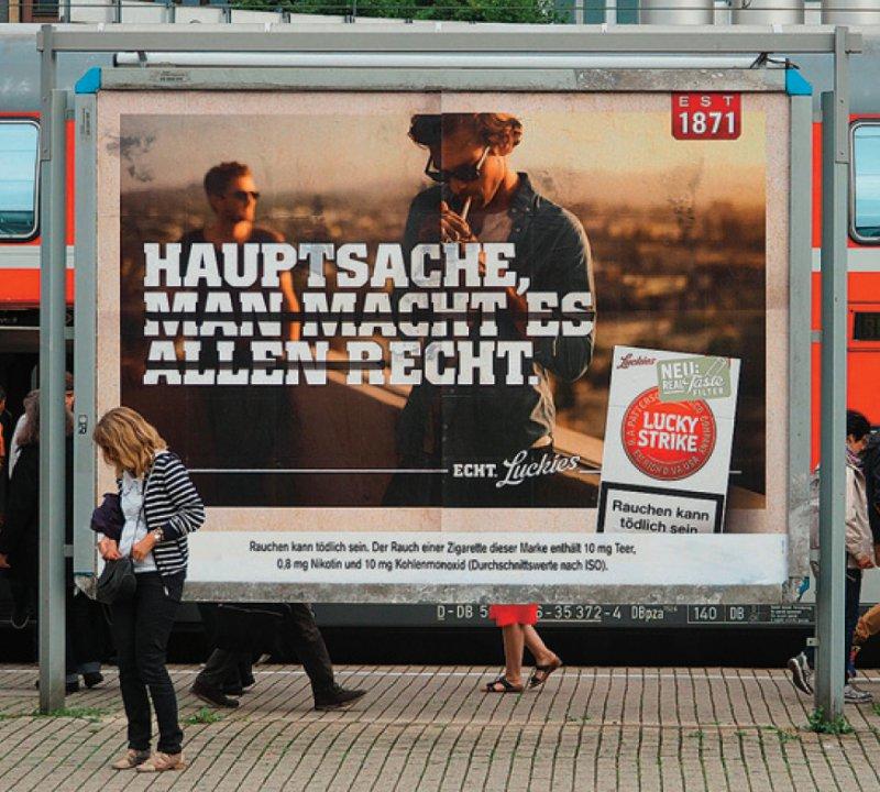 Ein Tabakwerbeverbot auf Plakatflächen in Deutschland hat die Union bisher blockiert. Foto: dpa