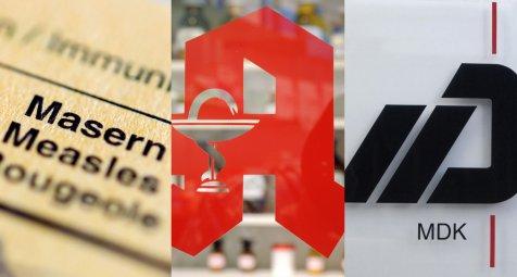 Masern, Apotheken, MDK: Drei Gesetze, alle Vorhaben