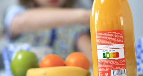 Orangensaft mit Nutri-Score. /picture alliance