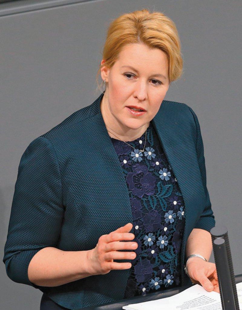 Bundesfamilienministerin Franziska Giffey appellierte an die Verantwortung der Spielehersteller. Foto: dpa