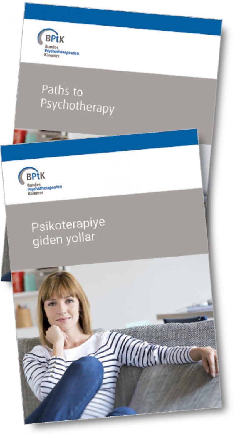 Fremdsprachige Broschüren: Die Bundespsychotherapeutenkammer hat ihr Informationsangebot erweitert.