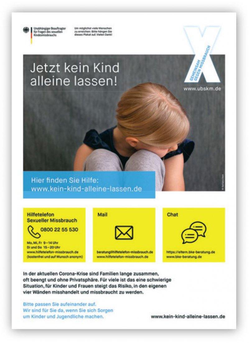 Das Poster in der Praxis kann signalisieren, dass das Praxisteam ansprechbar für das Thema häusliche Gewalt ist.