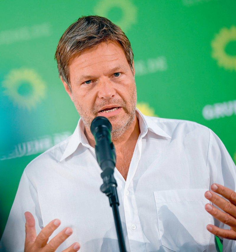 Hat den Kompromiss mit erarbeitet: Grünen-Parteichef Robert Habeck. Foto: picture alliance/dpa/Britta Pedersen