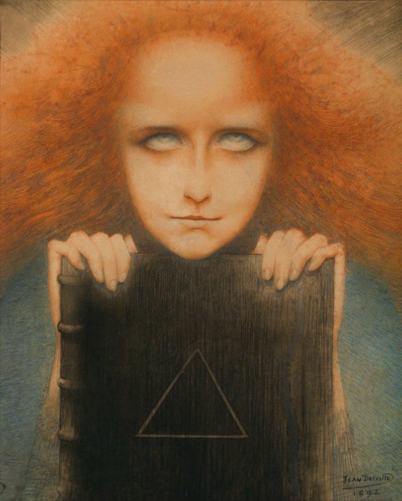 Abbildung 2: Jean Delville, Die Liebe der Seelen (L'Amour des âmes), 1900, Öl und Tempera auf Leinwand, 238 x 150 cm, Foto: Vincent Everarts
