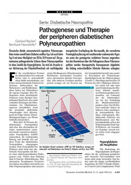 Serie: Diabetische Neuropathie – Pathogenese und Therapie der peripheren diabetischen Polyneuropathien