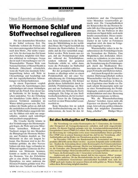 Neue Erkenntnisse der Chronobiologie: Wie Hormone Schlaf und Stoffwechsel regulieren