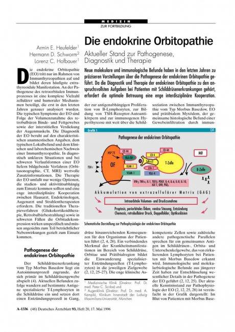Die endokrine Orbitopathie: Aktueller Stand zur Pathogenese, Diagnostik und Therapie
