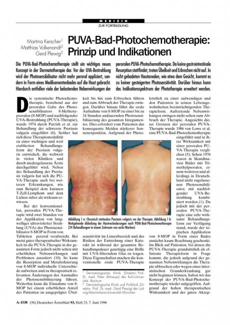 PUVA-Bad-Photochemotherapie: Prinzip und Indikationen