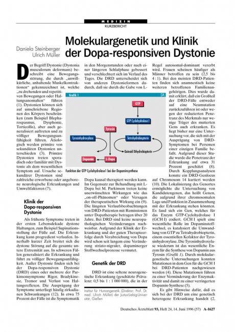 Molekulargenetik und Klinik der Dopa-responsiven Dystonie