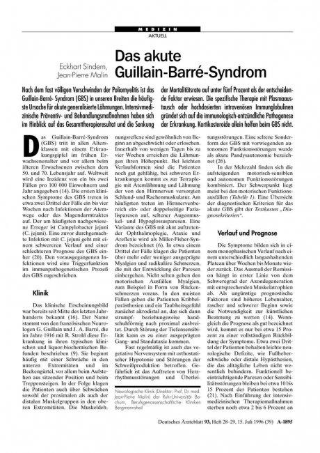Das akute Guillain-Barré-Syndrom