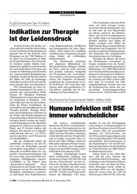 Kopfschmerzen bei Kindern: Indikation zur Therapie ist der Leidensdruck