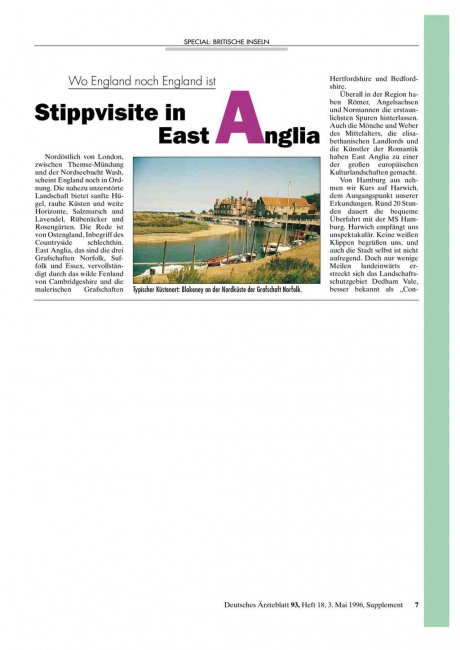 Wo England noch England ist: Stippvisite in East Anglia