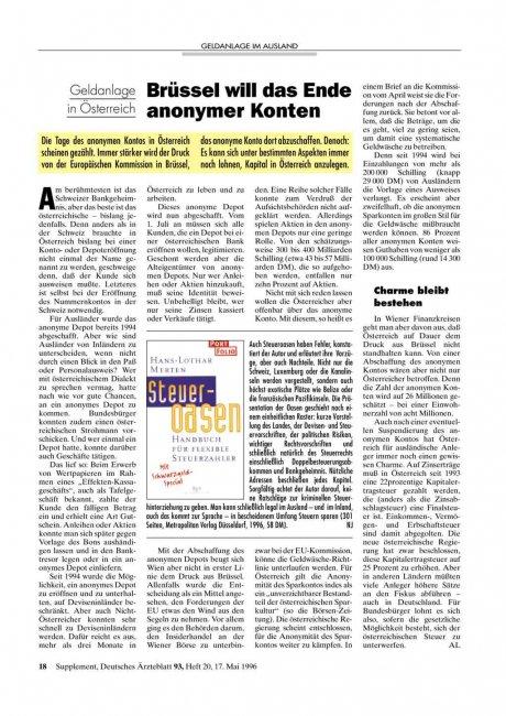 Geldanlage in Österreich: Brüssel will das Ende anonymer Konten