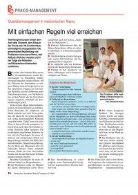 Qualitätsmanagement in medizinischen Teams: Mit einfachen Regeln ...