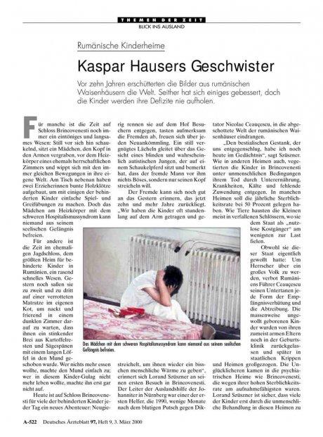 Rumänische Kinderheime: Kaspar Hausers Geschwister