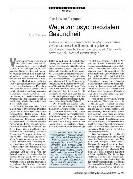 Künstlerische Therapien: Wege zur psychosozialen Gesundheit