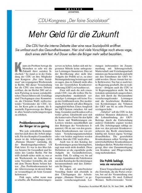 """CDU-Kongress """"Der faire Sozialstaat"""": Mehr Geld für die Zukunft"""