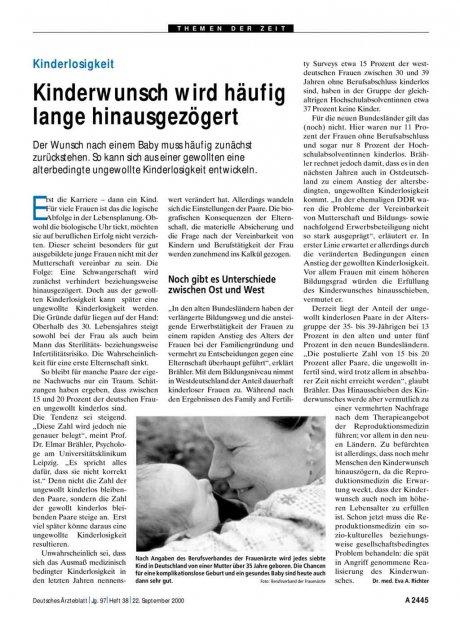 Kinderlosigkeit: Kinderwunsch wird häufig lange hinausgezögert
