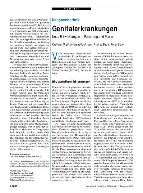 Genitalerkrankungen: Neue Entwicklungen in Forschung und Praxis