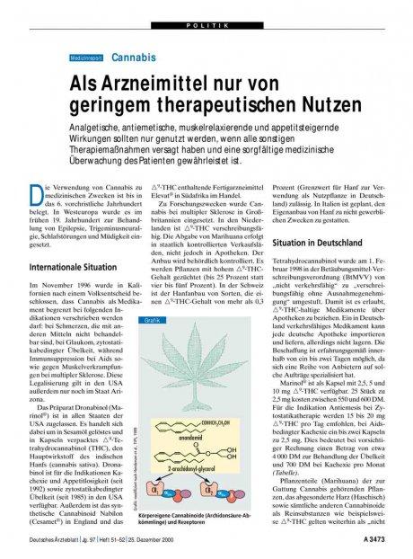 Cannabis: Als Arzneimittel nur von geringem therapeutischen Nutzen
