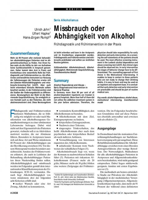Äußere merkmale alkoholismus