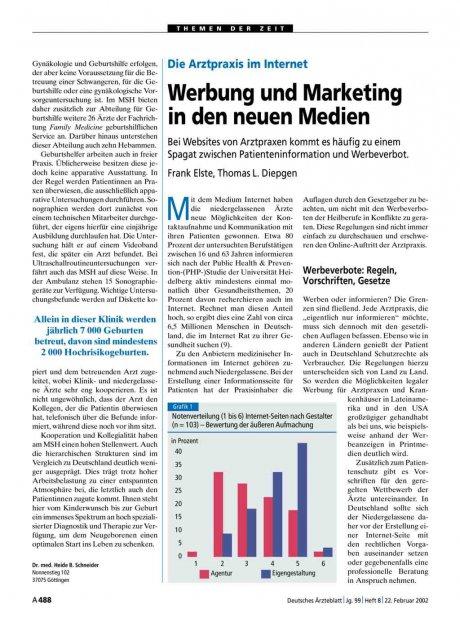 Die Arztpraxis im Internet: Werbung und Marketing in den neuen Medien