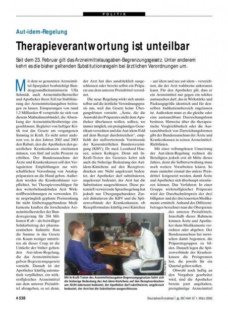 Aut-idem-Regelung: Therapieverantwortung ist unteilbar