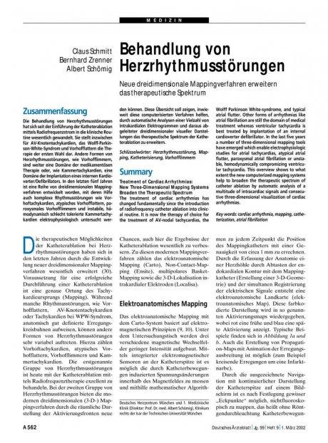 Behandlung von Herzrhythmusstörungen: Neue dreidimensionale Mappingverfahren erweitern das therapeutische Spektrum