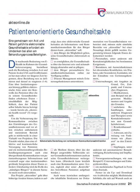 akteonline.de: Patientenorientierte Gesundheitsakte