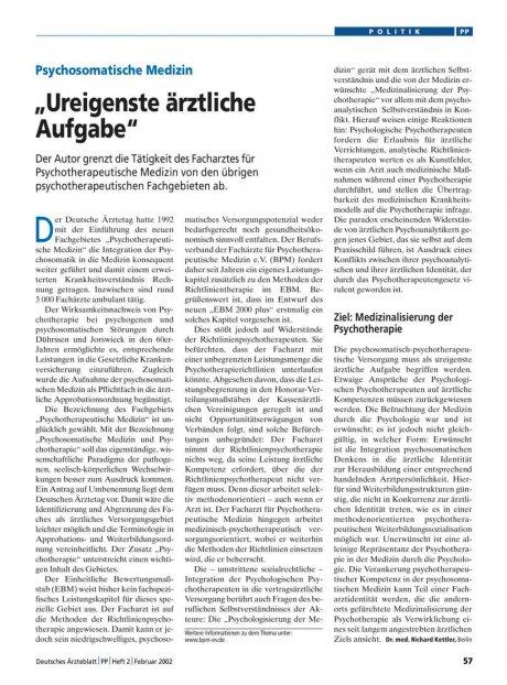 """Psychosomatische Medizin: """"Ureigenste ärztliche Aufgabe"""""""