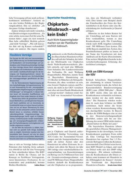 Bayerischer Hausärztetag: Chipkarten-Missbrauch – und kein Ende?