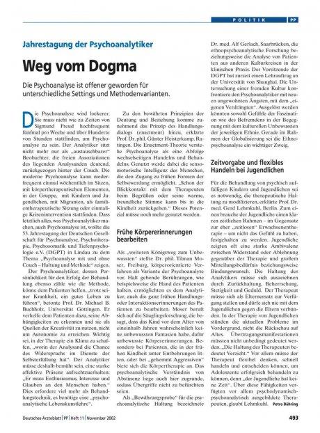 Jahrestagung der Psychoanalytiker: Weg vom Dogma