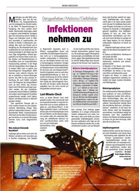 Denguefieber/Malaria/Gelbfieber: Infektionen nehmen zu