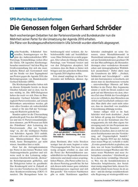 SPD-Parteitag zu Sozialreformen: Die Genossen folgen Gerhard Schröder