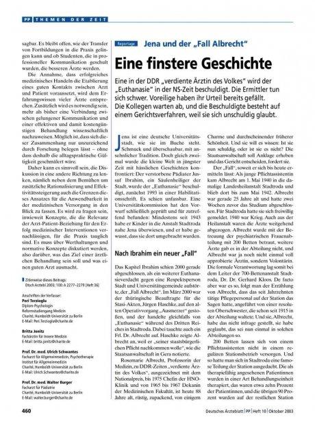 """Jena und der """"Fall Albrecht"""": Eine finstere Geschichte"""