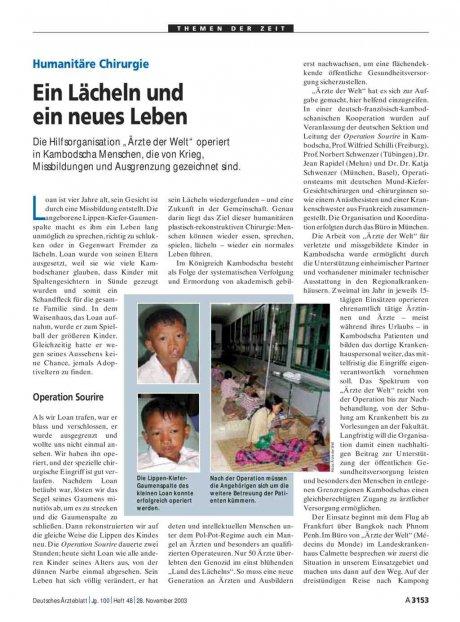Humanitäre Chirurgie: Ein Lächeln und ein neues Leben