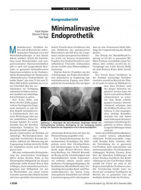Kongressbericht: Minimalinvasive Endoprothetik