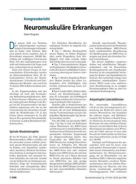 Kongressbericht: Neuromuskuläre Erkrankungen