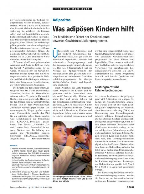 Adipositas: Was adipösen Kindern hilft
