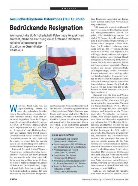 Gesundheitssysteme Osteuropas (Teil 1): Polen – Bedrückende Resignation