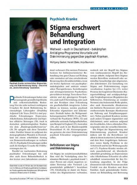Psychisch Kranke: Stigma erschwert Behandlung und Integration