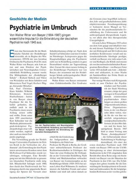 Geschichte der Medizin: Psychiatrie im Umbruch