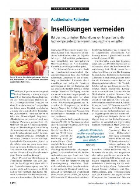 Ausländische Patienten: Insellösungen vermeiden