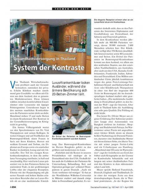 Gesundheitsversorgung in Thailand: System der Kontraste