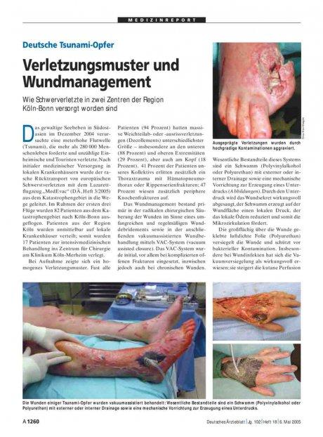Deutsche Tsunami-Opfer: Verletzungsmuster und Wundmanagement