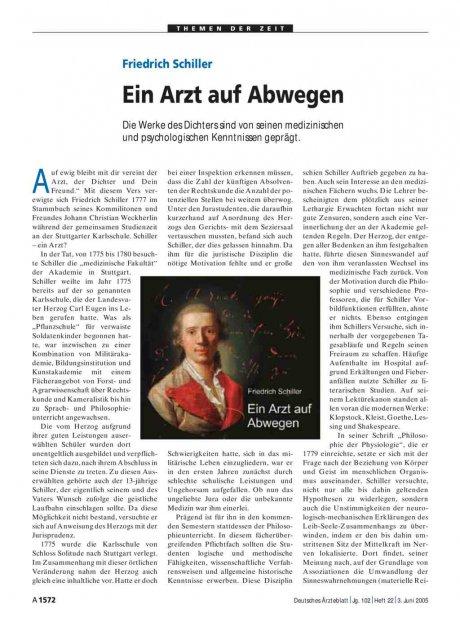 Friedrich Schiller: Ein Arzt auf Abwegen