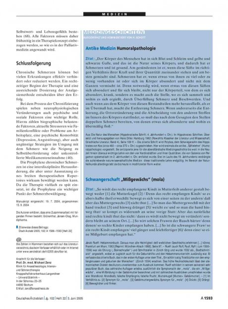 Medizingeschichte(n): Antike Medizin – Humoralpathologie