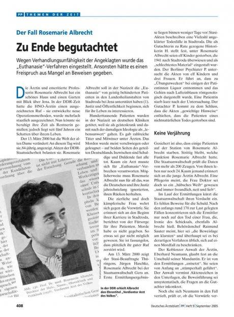 Der Fall Rosemarie Albrecht: Zu Ende begutachtet